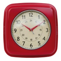 "Ceas ""Retro Red"" 28*8*28 cm, Clayre & Eef"