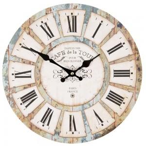 """Ceas """"Cafe de la Tour"""" 34*4*34 cm, Clayre & Eef"""