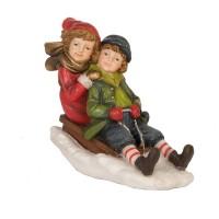 "Decoratiune ""Children on sled"", Clayre & Eef"