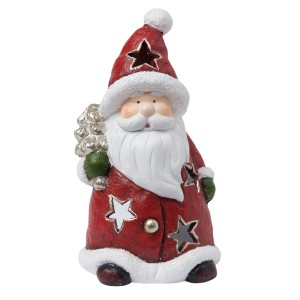 "Suport Tealight ""Santa Claus"", Clayre & Eef"