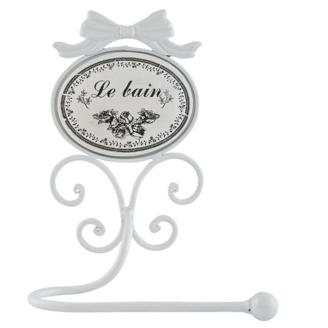 "Suport hartie igienica de perete ""Le bain"" 19*13*26 cm, Clayre & Eef"