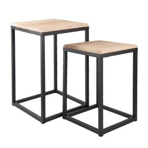 Set 2 masute decorative 36*36*52 / 31*31*42 cm, Clayre & Eef