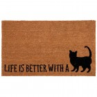 "Covoras de intrare ""Life is Better"" 75x45 cm, Clayre & Eef"