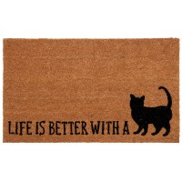 Covoras de intrare Life is better, 75x45 cm, Clayre & Eef