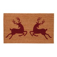 Covoras de intrare Hello Deer, 75x45 cm, Clayre & Eef