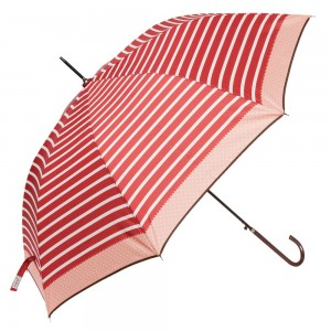 """Umbrella """"Adelaide Red"""" Ø 98*55cm, Clayre & Eef"""