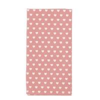 "Servet de masa textil ""Lovely Hearts"" 40*40 cm, Clayre & Eef"