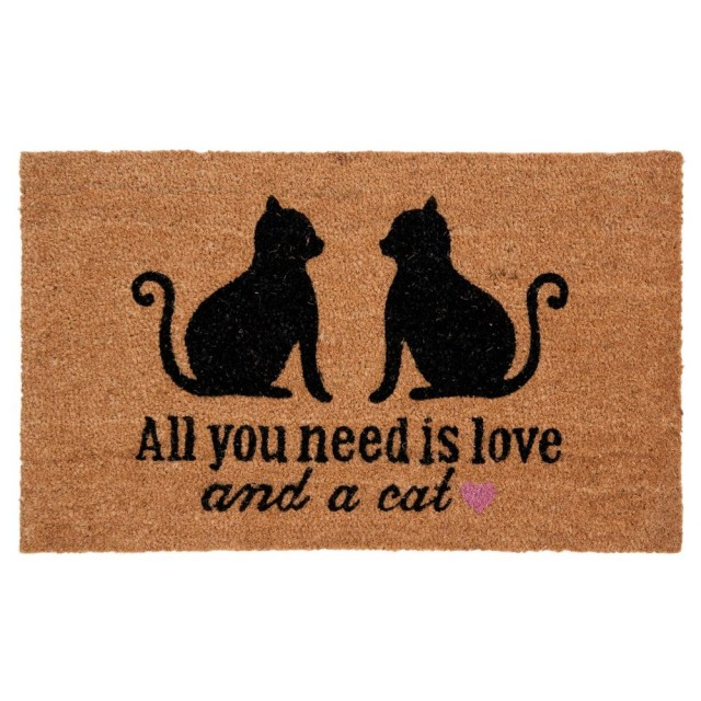 "Covoras de intrare ""All You Need"" 75x45 cm, Clayre & Eef"