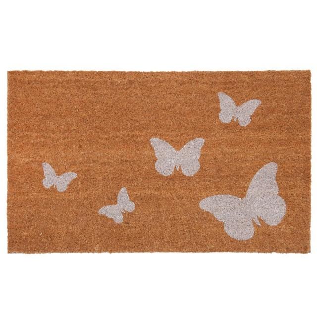 Covoras de intrare Butterflies, 75x45 cm, Clayre & Eef