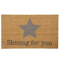 "Covoras de intrare ""Shining for you"", 75x45 cm, Clayre & Eef"