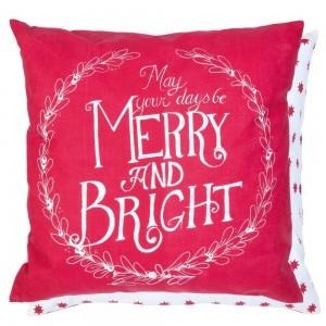 """Fata de perna """"Merry & Bright"""" 50*50 cm, Clayre & Eef"""
