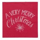 """Servetele de masa """"A Very Merry Christmas"""" 33*33 cm, Clayre & Eef"""
