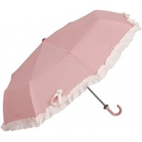 "Umbrela pliabila ""White Dots - Pink"", Clayre & Eef"