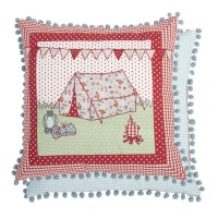 "Perna decorativa cu broderie ""Holiday"" 40*40 cm, Clayre & Eef"