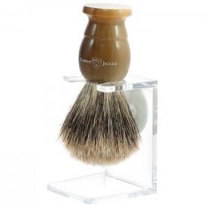 Pamatuf pentru barbierit Best Badger cu suport Light Horn, Edwin Jagger