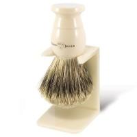 Edwin Jagger Pamatuf pentru barbierit Ivory, Best Badger, cu suport