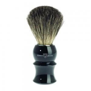Pamatuf pentru barbierit Ebony Sculpture, Pure Badger, Edwin Jagger