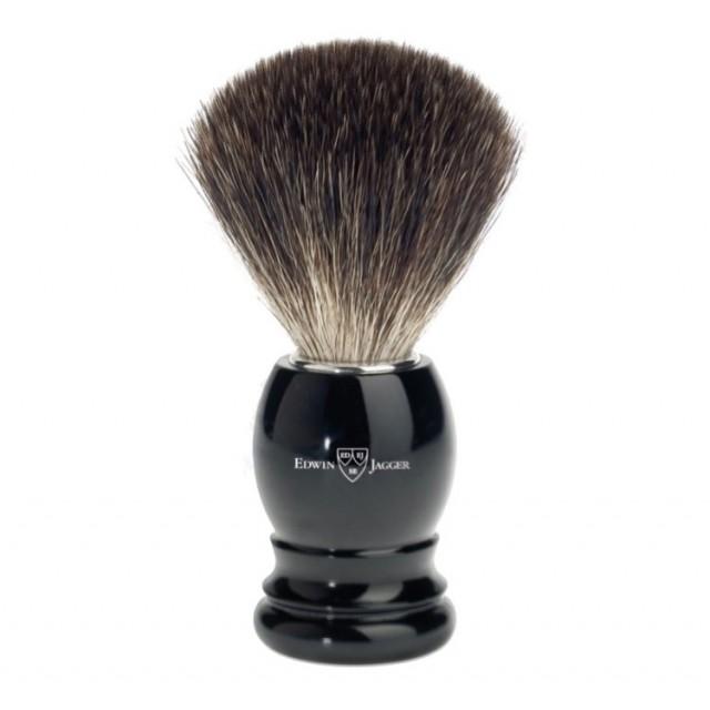Edwin Jagger Pamatuf pentru barbierit Ebony, Pure Badger
