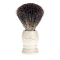 Pamatuf pentru barbierit Ivory, Pure Badger, Edwin Jagger