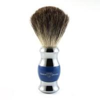 Pamatuf pentru barbierit Blue & Silver, Pure Badger, Edwin Jagger