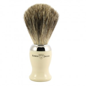 Set pamatuf pentru barbierit Ivory, Pure Badger, Edwin Jagger, Edwin Jagger