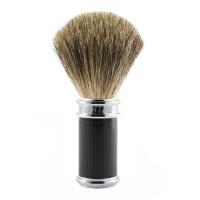 Pamatuf pentru barbierit Classic Ebony, Pure Badger, Edwin Jagger