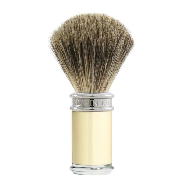 Edwin Jagger Pamatuf pentru barbierit Classic Ivory, Pure Badger