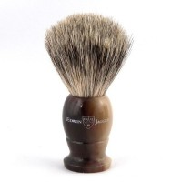 Pamatuf pentru barbierit, Light Horn, Best Badger, Small, Edwin Jagger