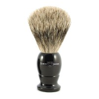 Pamatuf pentru barbierit, Ebony, Best Badger, Small, Edwin Jagger