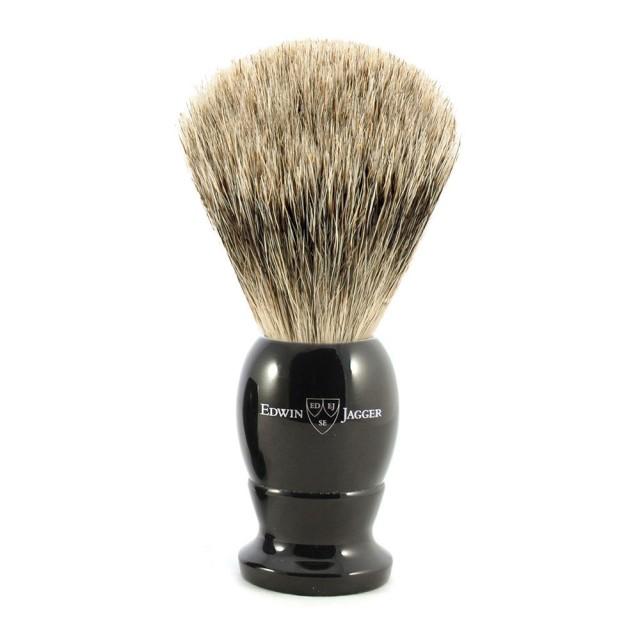 Edwin Jagger Pamatuf pentru barbierit Ebony, Best Badger Small