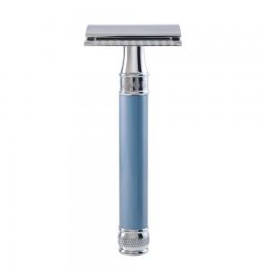 Aparat de barbierit clasic, DELBE14BL Light Blue, Edwin Jagger