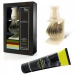 Set pentru barbierit - pamatuf Best Badger cu suport si crema de barbierit Limes & Pomegranate, Edwin Jagger