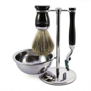 Set de barbierit 4 piese S81M716CRB Ebony Fit, Edwin Jagger