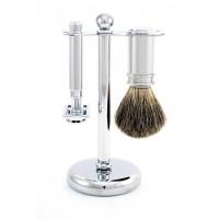 Set de barbierit 3 piese S81M8911 Classic Silver, Edwin Jagger