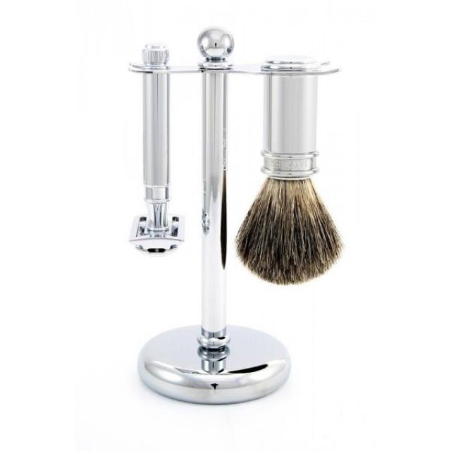 Edwin Jagger Set de barbierit 3 piese S81M8911, Classic Silver