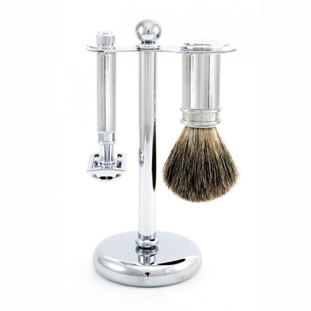 Edwin Jagger Set barbierit 3 piese S81M89L11, Classic Silver Steve