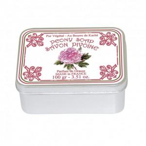 Sapun in cutie Pivoine 100g, Le Blanc
