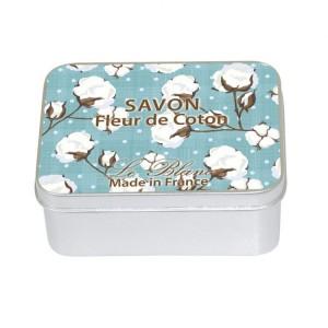 Sapun in cutie Fleur de Coton 100g, Le Blanc