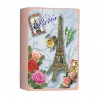 Sapun Tour Eiffel & Roses - Rose, Le Blanc