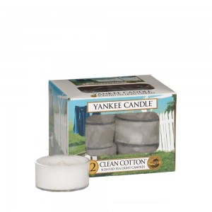 Lumanare parfumata T/light Clean Cotton, Yankee Candle