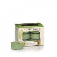 Set 12 lumanari parfumate tip pastila Vanilla Lime, Yankee Candle