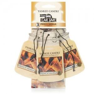 Odorizant Auto Car Jar 2+1 Gratuit French Vanilla, Yankee Candle