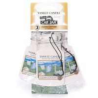 Odorizant Auto Car Jar 2+1 Gratuit Clean Cotton, Yankee Candle