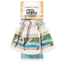 Odorizant Auto Car Jar 2+1 Gratuit Coconut Bay, Yankee Candle