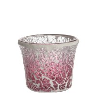 Suport lumanare Votive, Pink Fade Crackle, Yankee Candle