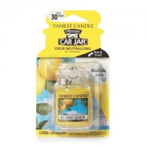Odorizant Auto Car Jar Ultimate Sicilian Lemon, Yankee Candle