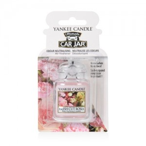 Odorizant Auto Car Jar Ultimate Fresh Cut Roses, Yankee Candle