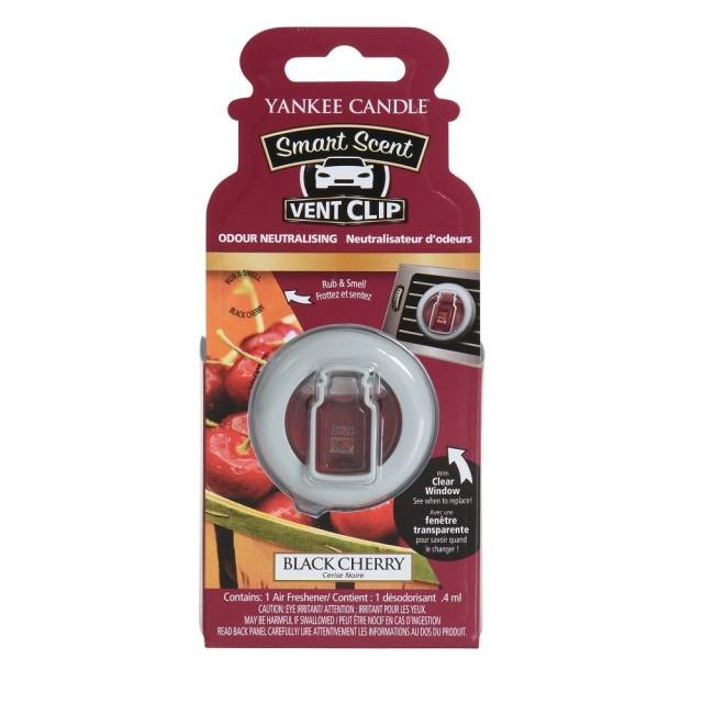Odorizant Auto Smart Scent Vent Clip Black Cherry, Yankee Candle