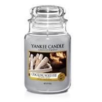 Lumanare Parfumata Borcan Mare Crackling Wood Fire, Yankee Candle