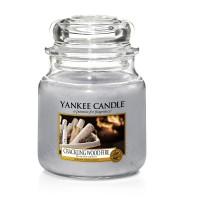 Lumanare Parfumata Borcan Mediu Crackling Wood Fire, Yankee Candle